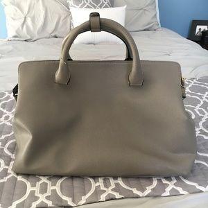 Zara Gray Saffiano City Bag Tote